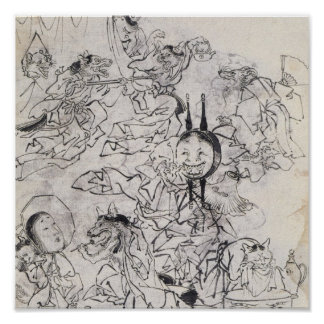 Ancient Japanese Drawing Poster
