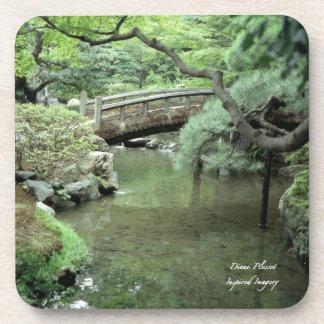 Ancient Japanese Garden Cork Coaster (2)