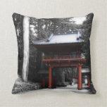 Ancient Japanese Gate Throw Pillows