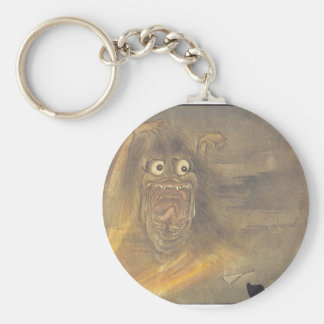 Ancient Japanese Ghost/Demon Painting Basic Round Button Keychain