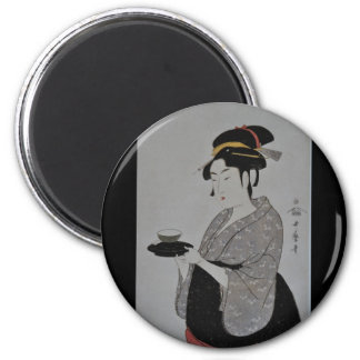 Ancient Japanese Painting circa 1793 2 Inch Round Magnet