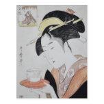 Ancient Japanese Painting circa 1796 Post Card