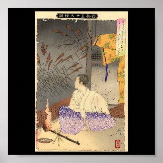 Ancient Japanese Painting circa 1891 Poster