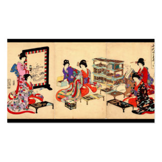 Ancient Japanese Painting. Circa 1895 Double-Sided Standard Business Cards (Pack Of 100)