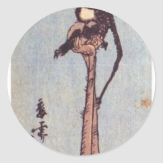 Ancient Japanese Painting Classic Round Sticker