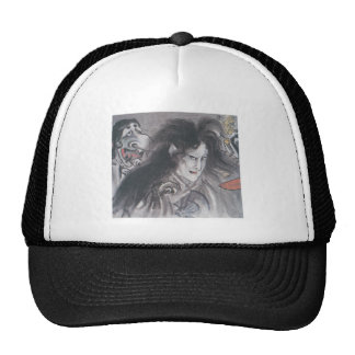 Ancient Japanese Painting of Demons and Ghosts Mesh Hat