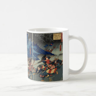 Ancient Japanese Painting of Samurai and Mongols Mugs