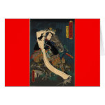 Ancient Japanese Painting, Samurai with Toad Cards