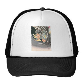 Ancient Japanese Samurai Painting Mesh Hat