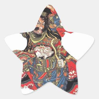 ANCIENT JAPANESE SAMURAI WARRIOR STAR STICKER
