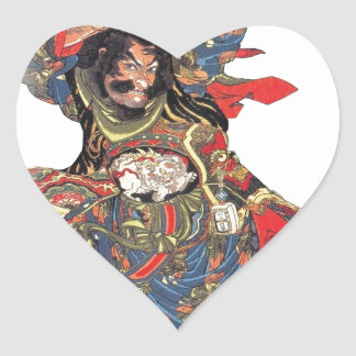 ANCIENT JAPANESE SAMURAI WARRIOR HEART STICKER