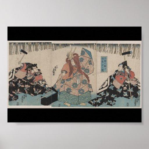 Ancient Japanese Sword Making Ritual circa 1848 Poster