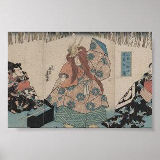 Ancient Japanese Sword Making Ritual circa 1848 Print