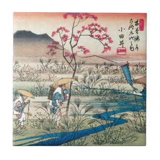 Ancient Japanese Travellers Small Square Tile