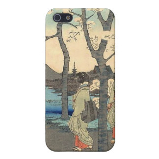 Ancient Japanese Women under Cherry Blossoms Case For iPhone SE/5/5s