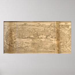 Ancient Jerusalem Map Poster