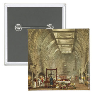 Ancient Kitchen, Windsor Castle, engraved by Willi Pinback Button