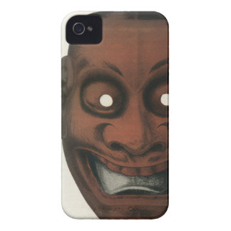 Ancient lacquered wooden theatre mask Case-Mate iPhone 4 cases