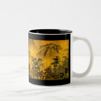 Ancient Landscape Two-Tone Coffee Mug
