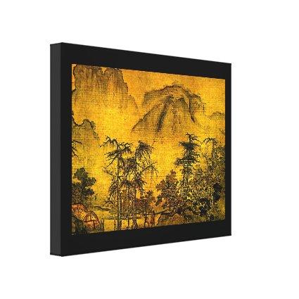 Ancient Landscape Wrapped Canvas Print