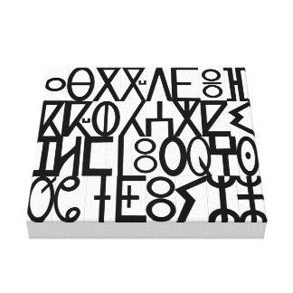 ancient languages canvas print
