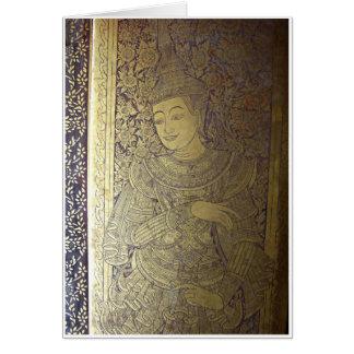 Ancient Lanna Artwork Greeting Card
