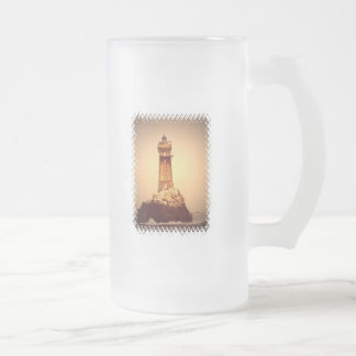 Ancient Lighthouse Frosted Beer Mug