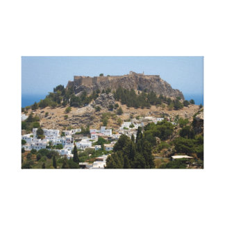 Ancient Lindos on Rhodes Canvas Print