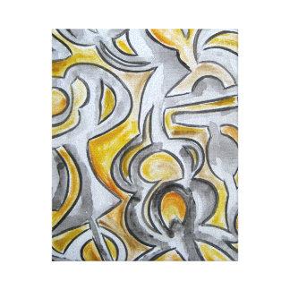 Ancient Lock-Abstract Art Handpainted Canvas Print