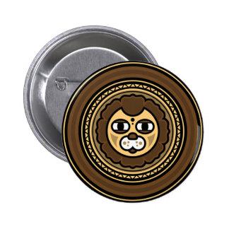 Ancient Locks (Lion) Standard Round Button