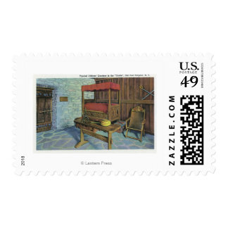 Ancient Lombardy Poplar Tree and French Castle Postage