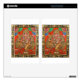 ANCIENT LORD GANESH PAINTING KINDLE FIRE DECAL