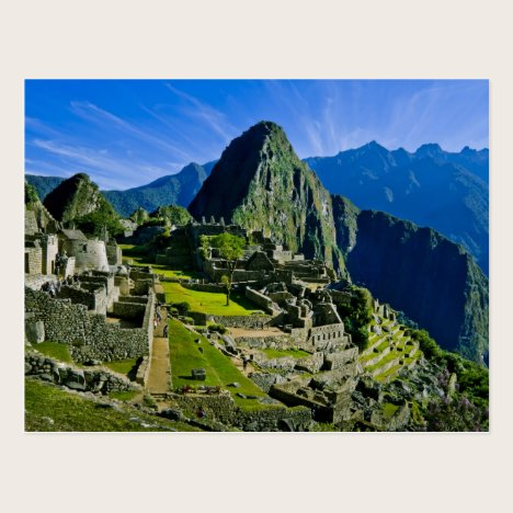 Ancient Machu Picchu, last refuge of the 2 Postcard
