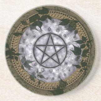 Ancient Magic Pagan Pentacle Coasters