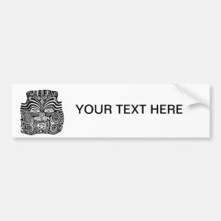 Ancient Maori Moko tribal tattoo design. Bumper Sticker