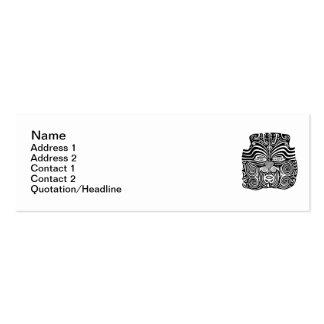 Ancient Maori Moko tribal tattoo design. Business Card Template