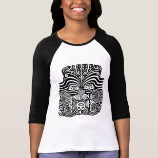 Ancient Maori Moko tribal tattoo design. Tee Shirt