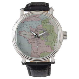 Ancient Map Aquitaine Anjou Historical Watch