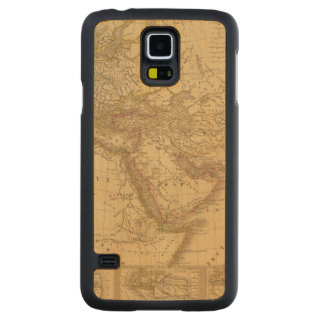Ancient Map Carved Maple Galaxy S5 Slim Case
