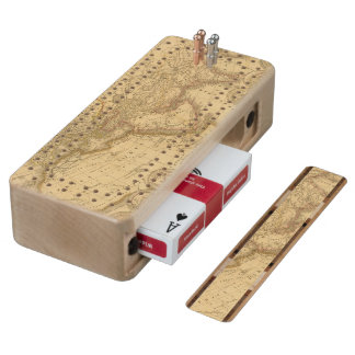 Ancient Map Cribbage Board