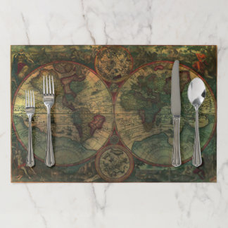 Ancient Map Large Tearaway Placemat