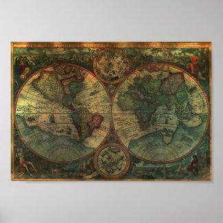Ancient Map Mini Poster