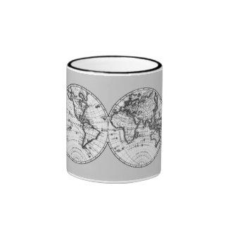 Ancient Map Ringer Coffee Mug