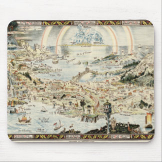 Ancient map of Fairyland by Bernard Sleigh Mouse Pad