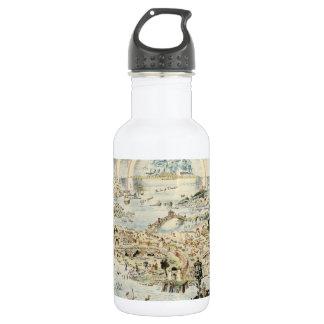 Ancient map of Fairyland by Bernard Sleigh 18oz Water Bottle