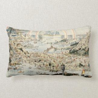 Ancient map of Fairyland by Bernard Sleigh Throw Pillows