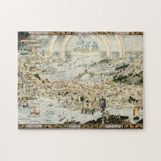 Ancient map of Fairyland by Bernard Sleigh Puzzles