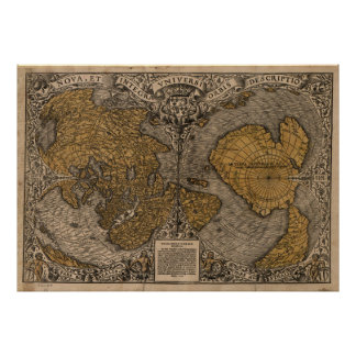 Ancient Map of The World (1531) Poster