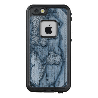 Ancient Map Of The World In Blue LifeProof FRĒ iPhone 6/6s Case