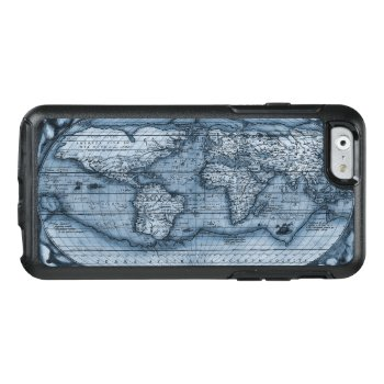 Ancient Map Of The World In Blue Otterbox Iphone 6/6s Case by OldArtReborn at Zazzle